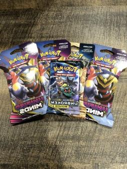 5x Sun and Moon Pokemon 10 cards Booster packs New Lot Of 5