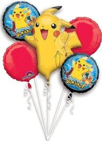 Pokemon Pikachu and Friends 5 Mylar Balloons Bouquet ~ Party