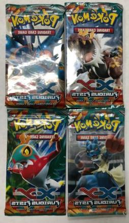 Pokémon Furious Fists Booster Pack LOT Of 4, All 4 Art Styl