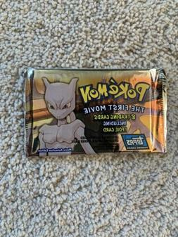 """TOPPS POKEMON """"THE FIRST MOVIE"""" SEALED PACK.  8 TRADING CARD"""